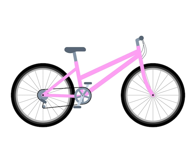 Bicicletta rosa femminile ciclismo ecologico