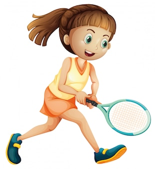 Un atleta di tennis femminile