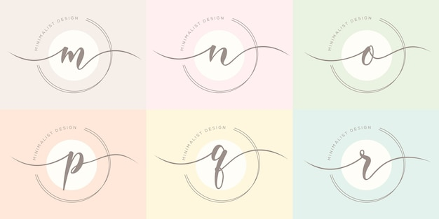 Modello di logo della lettera femminile