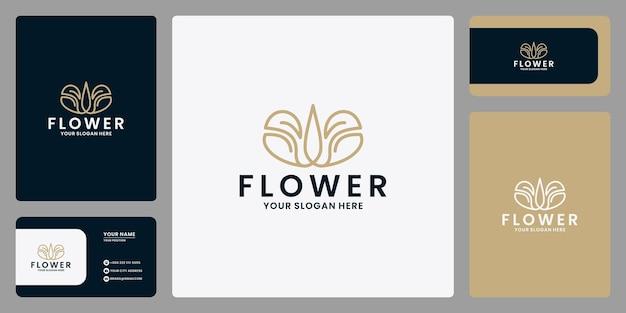 Salone di bellezza femminile e spa line art monogramma forma logo.golden logo design