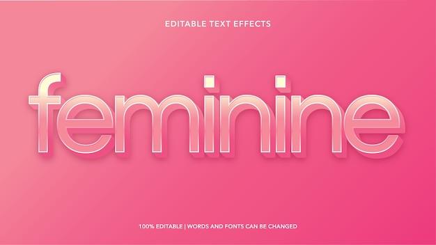 Effetti di testo modificabili femminili