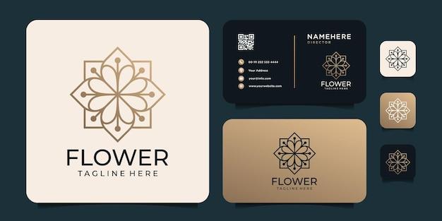 Design del logo del fiore femminile