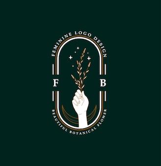 Design del logo fiore femminile