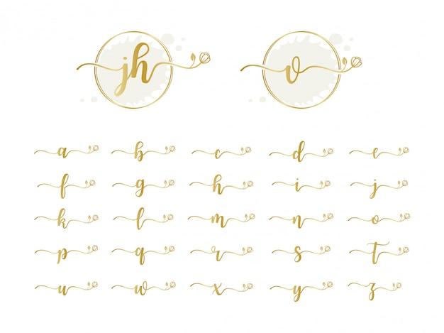 Collezione logo iniziale femminile