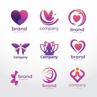 Modello di logo femminile Vettore Premium