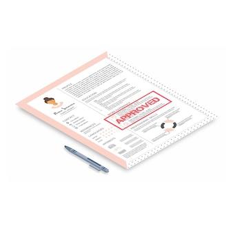 Curriculum femminile con design infografico.