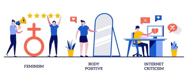 Femminismo, body positive, critiche su internet. attivismo sociale, potere femminile, uguaglianza di genere