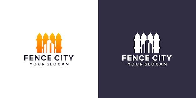 Design del logo della città di recinzione