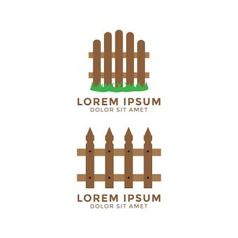 Elemento di vettore del modello di logo di progettazione grafica del recinto