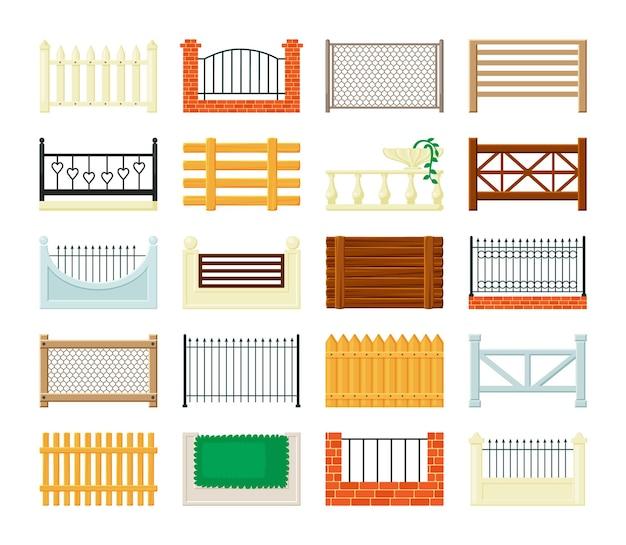 Set di sezioni di recinzione