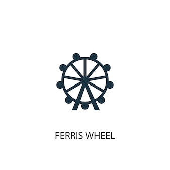 Icona della ruota panoramica. illustrazione semplice dell'elemento. disegno di simbolo di concetto di ruota panoramica. può essere utilizzato per web e mobile.