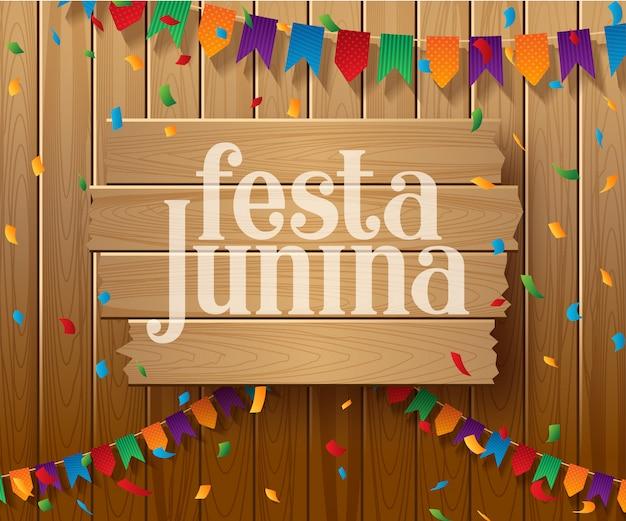 Festa junina design delle vacanze in brasile
