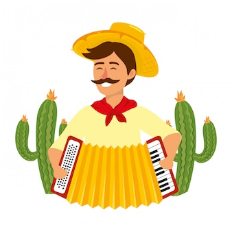 Festa junina cartoon