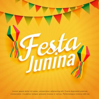 Elegante festa junina poster vacanza saluto