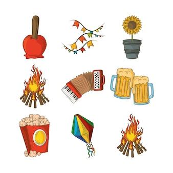 Set di elementi festa junina