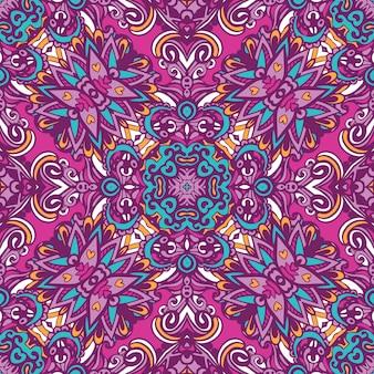 Reticolo senza giunte di arte del festival. stampa geometrica etnica. colorato