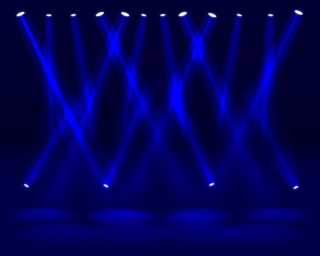 Luce dello spettacolo del festival, striscione per pista da ballo, cartello con testo da discoteca. illustrazione vettoriale
