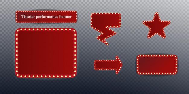 Festival o spettacolo poster, invito concerto banner illustrazione stock.
