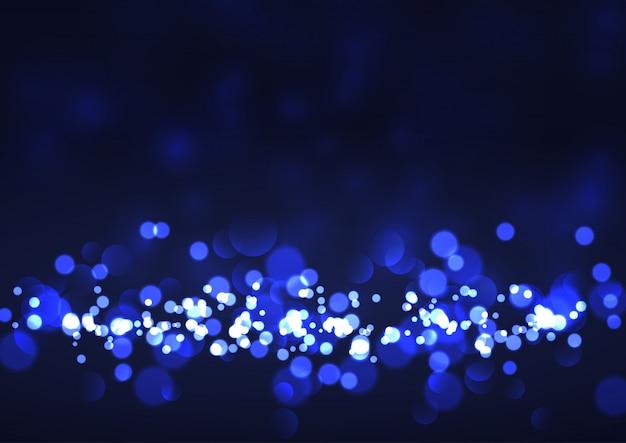 Sfondo festivo con luci bokeh