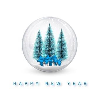 Sfondo di natale festivo. albero di pino di natale e palle di natale incandescente scintillio lucido.