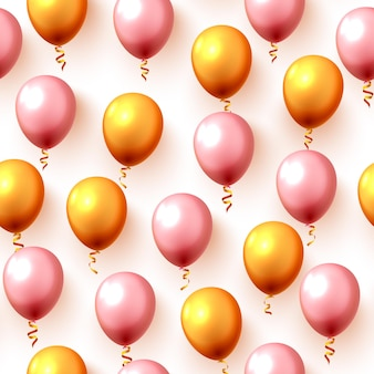 Struttura festiva del fondo del partito dell'aerostato di colore senza cuciture. illustrazione vettoriale