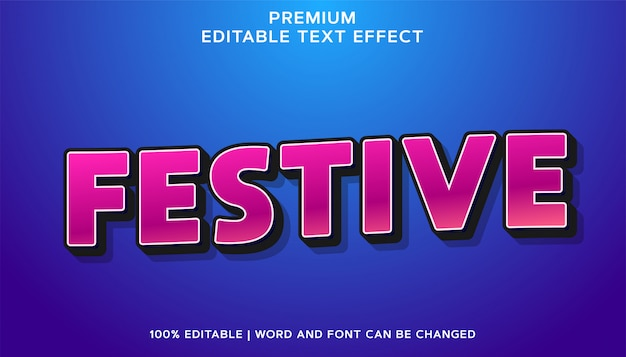 Festivo - stile effetto testo modificabile