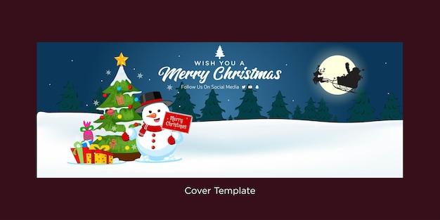 Design elegante e festivo del modello di copertina di buon natale
