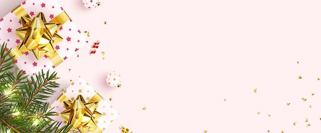 Biglietto di auguri festivo con capodanno e buon natale.