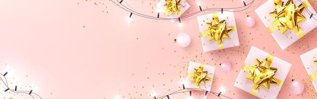 Biglietto di auguri festivo con capodanno e buon natale
