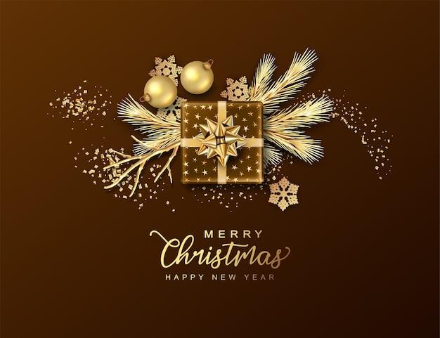 Priorità bassa festiva di buon natale e felice anno nuovo