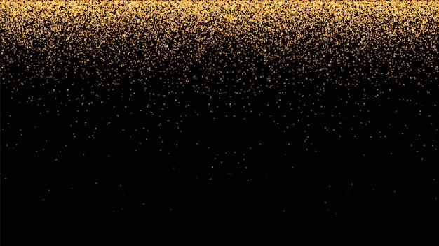 Sfondo vettoriale festivo con glitter oro e coriandoli per la celebrazione del natale.
