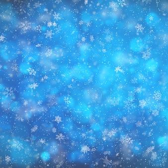 Sfondo sfocato inverno festivo.