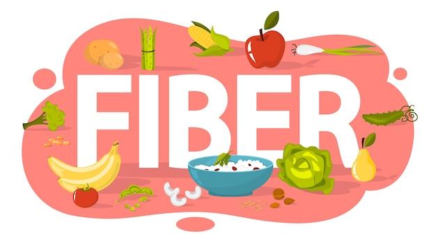 Concetto di cibo in fibra. idea di sana alimentazione