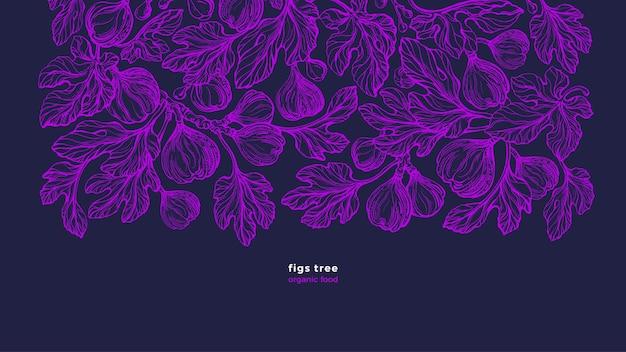 Ficus carica pianta botanica pattern