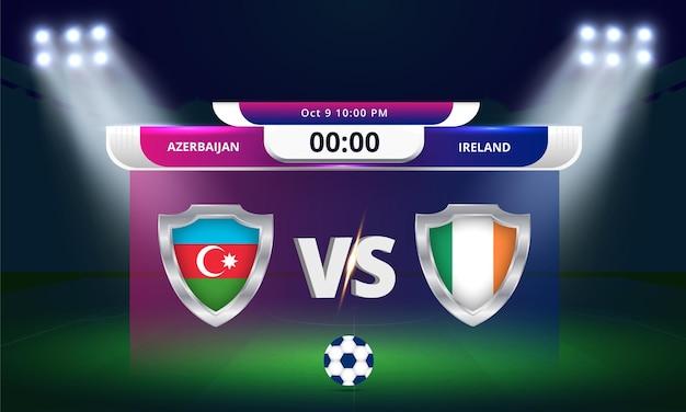 Qualificazioni ai mondiali fifa 2022azerbaigian vs irlanda partita di calcio