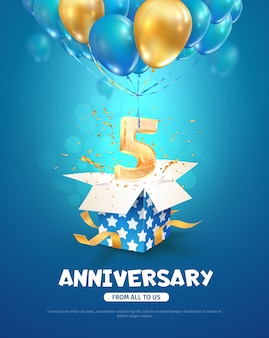 Festeggiamenti per il quinto anniversario