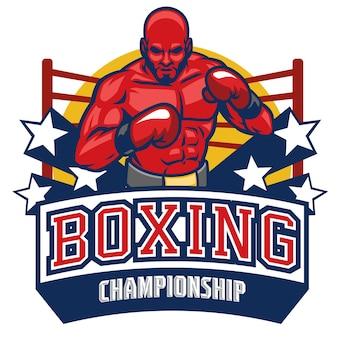 Distintivo del campionato di boxe combattente