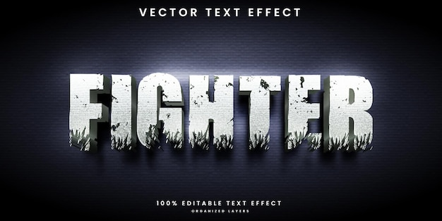 Effetto di testo modificabile combattente