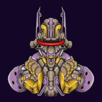 Illustrazione del robot combattente