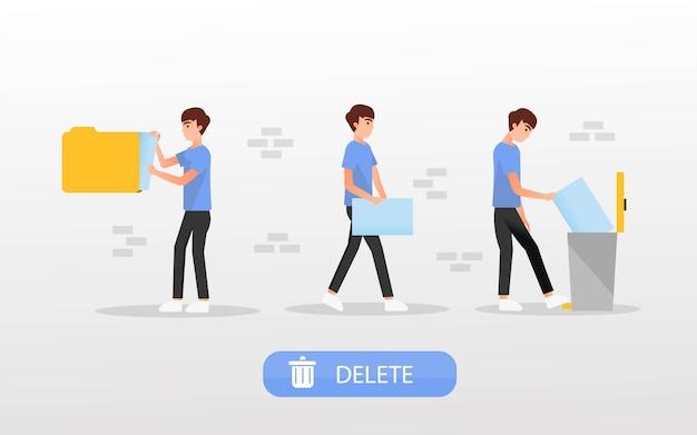 Concetto di eliminazione dei file