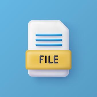 File o documento icona di vettore 3d