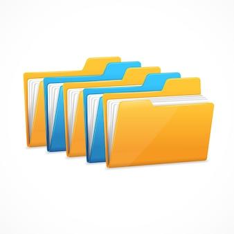Set di cartelle di file. la memorizzazione dei dati dei personaggi.