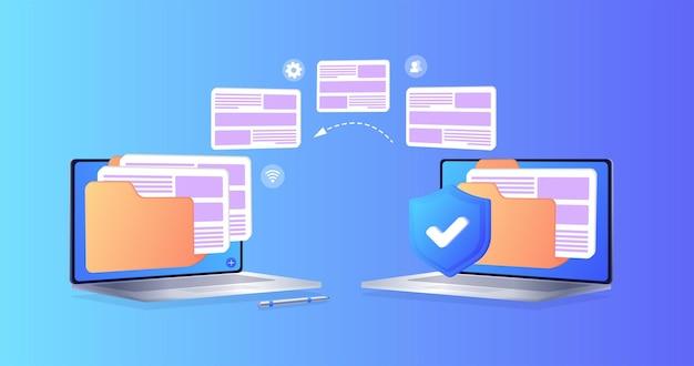 Trasferimento file file trasferiti in forma crittografata programma di protezione per connessione remota