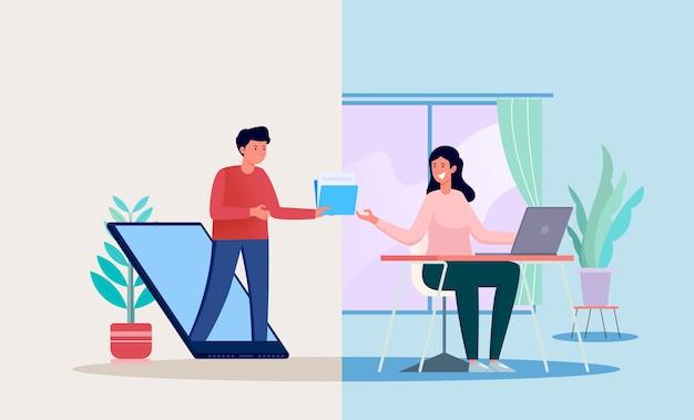 Concetto di illustrazione di trasferimento di file