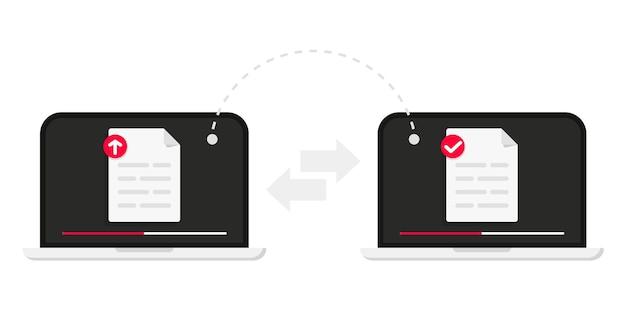 Trasferimento file trasferimento file di dati tra dispositivi trasmissione di documenti tra due computer