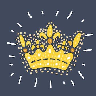 Corona imperiale in filigrana alta dettagliata