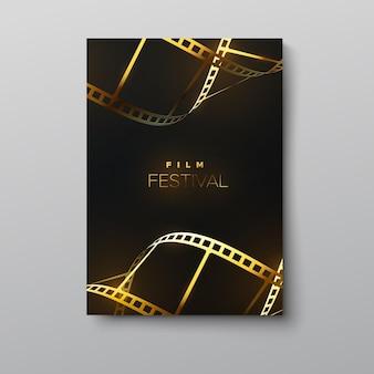 Modello di poster del festival cinematografico