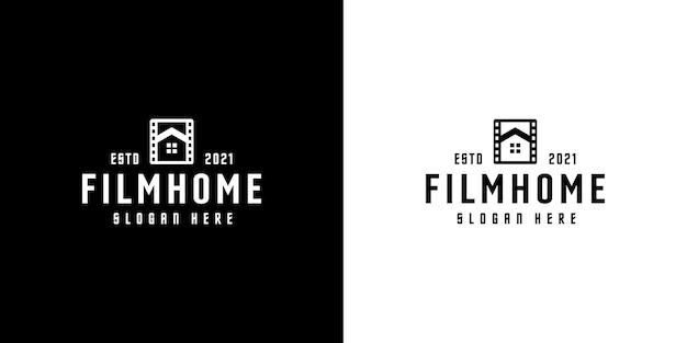 Disegno del modello di disegno vettoriale del logo della casa del film