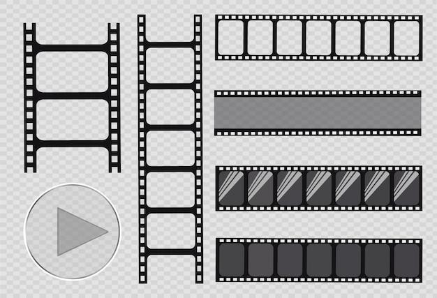 Striscia di pellicola, illustrazione. impostato