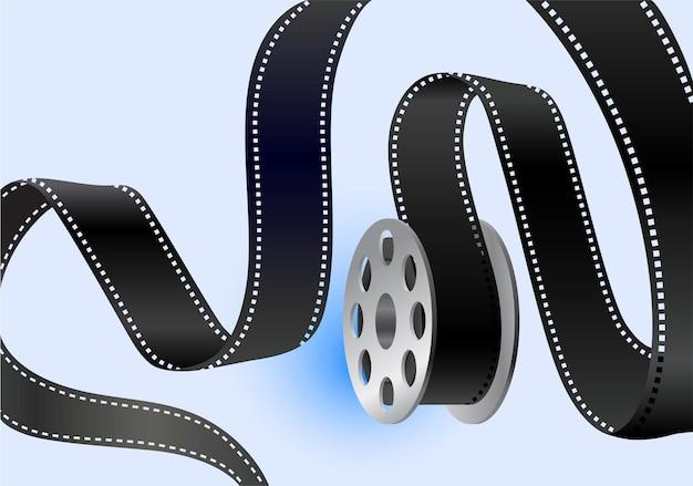 La striscia di pellicola svolazza intorno alla bobina